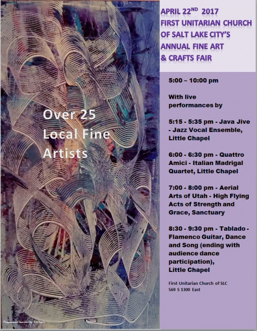 First UU Arts Fair Schedule - April 22nd