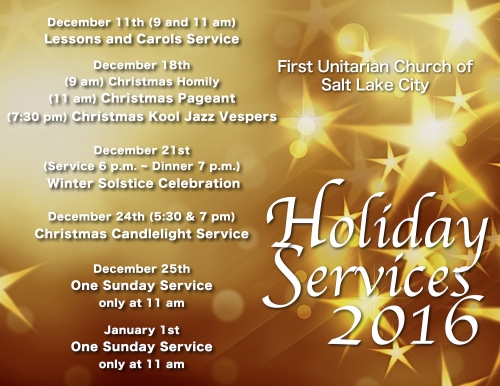 Holiday Services 2016